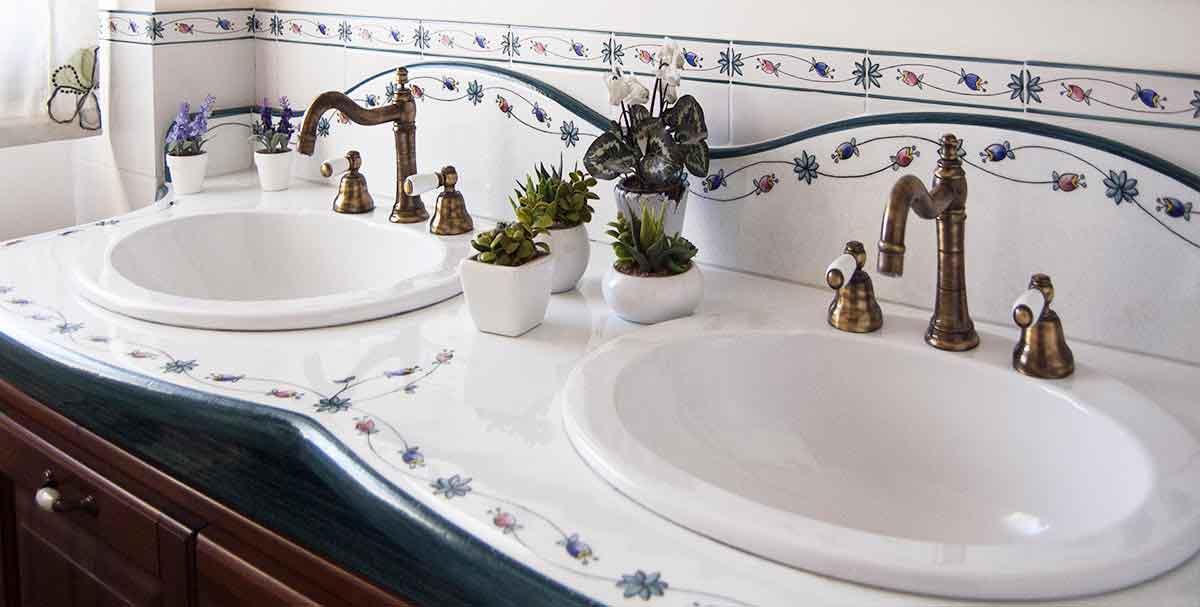 Lavandini in pietra lavica da incasso o d 39 appoggio artesole - Lavandini bagno da incasso ...
