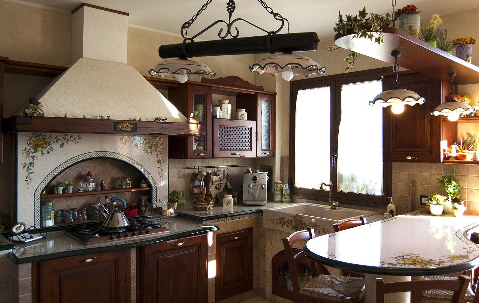Cucine Rustiche in muratura smontabile Modello Treviso