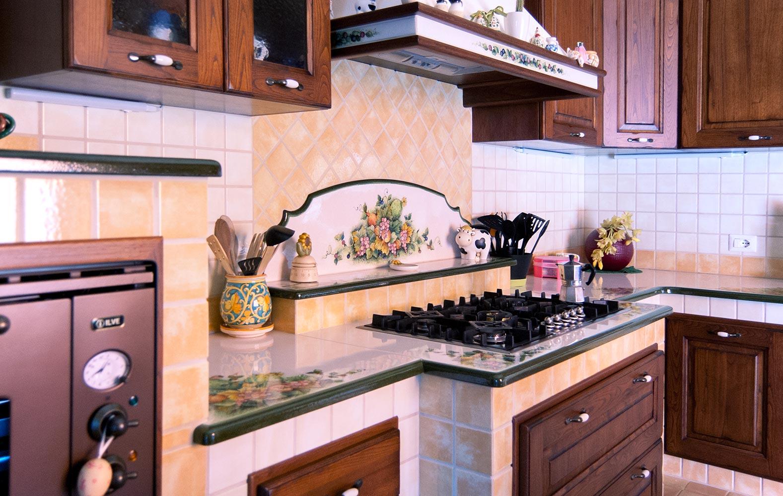 Piano Cottura In Muratura cucine in muratura smontabile modello pescara | artesole