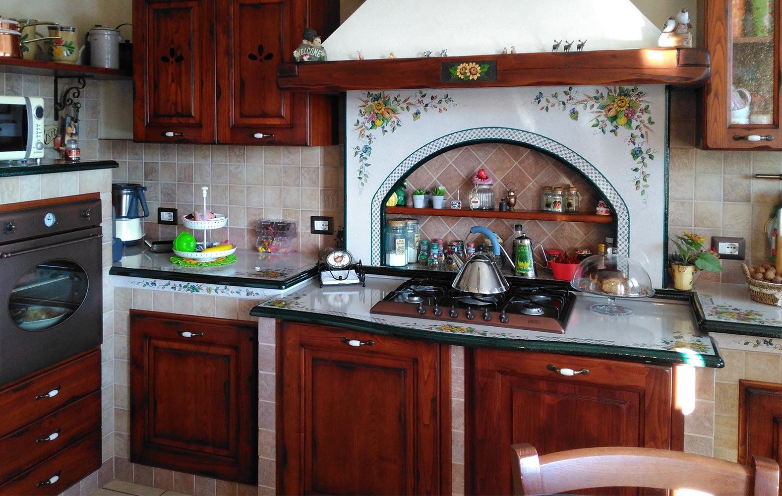 Forno Cucina In Muratura cucine rustiche in muratura smontabile modello treviso
