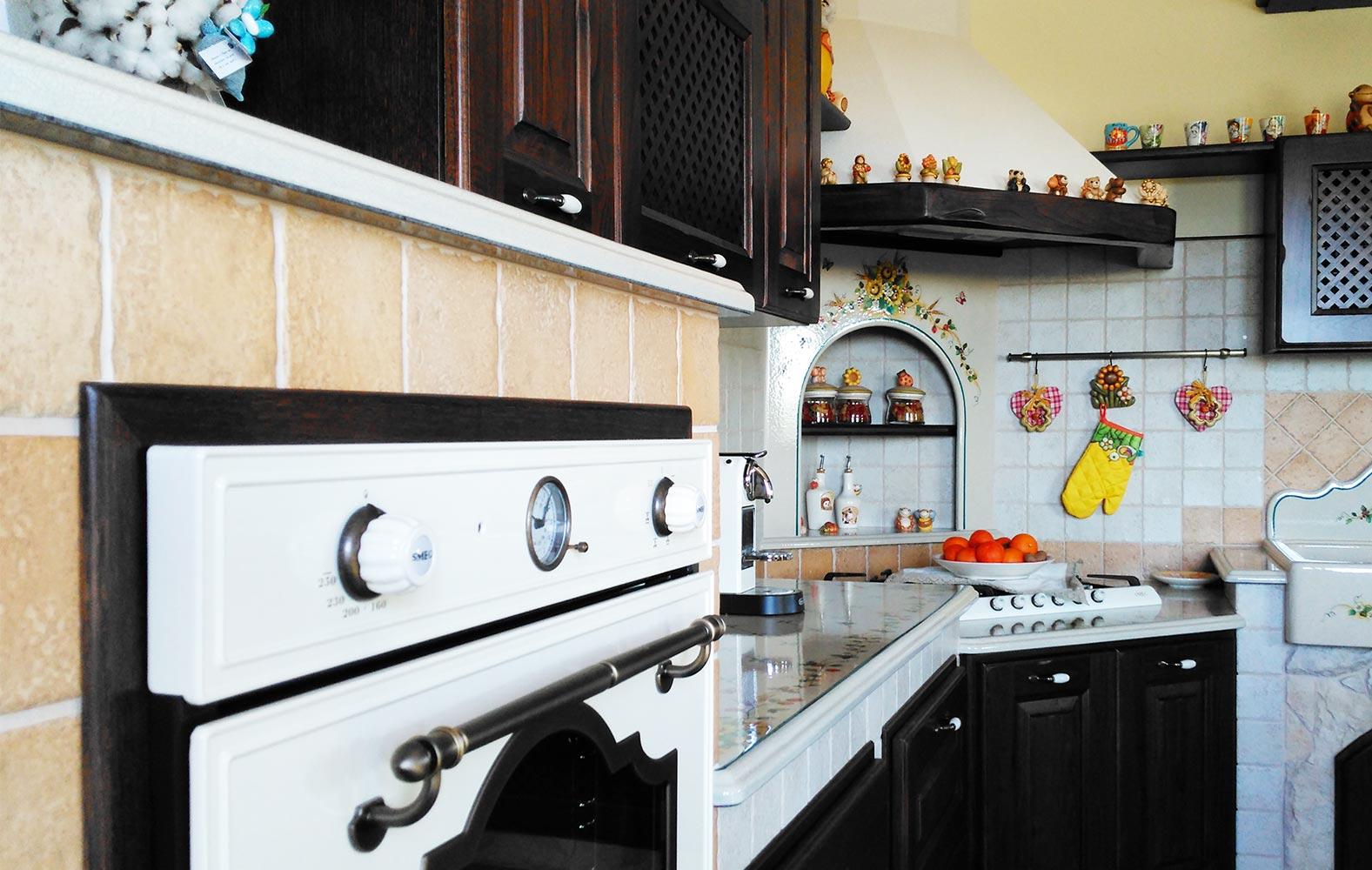 Cucine country in muratura smontabile modello benevento - Arte sole cucine ...