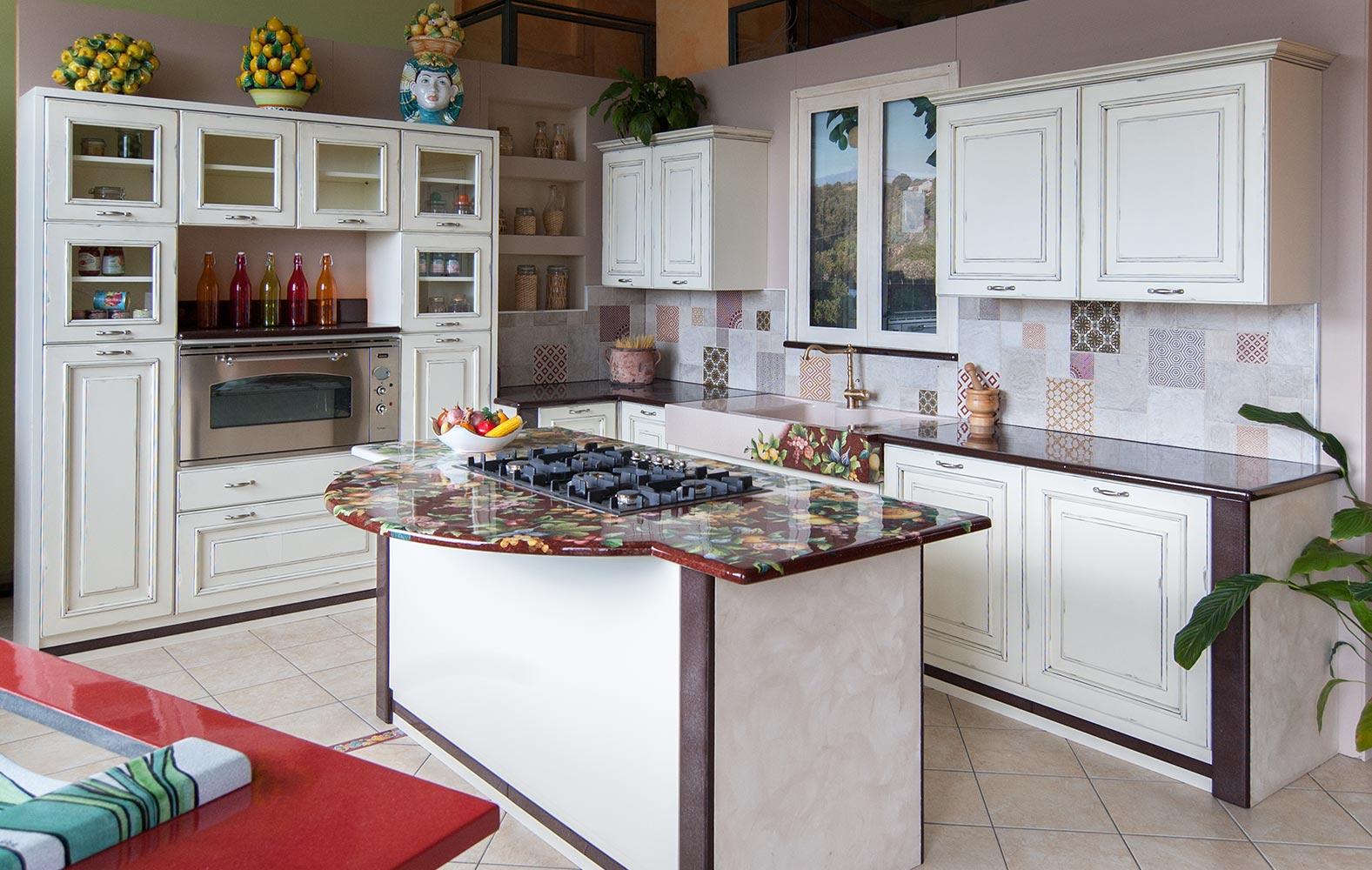 Cucine In Muratura Bianche cucine vintage: realizziamo la tua cucina su misura