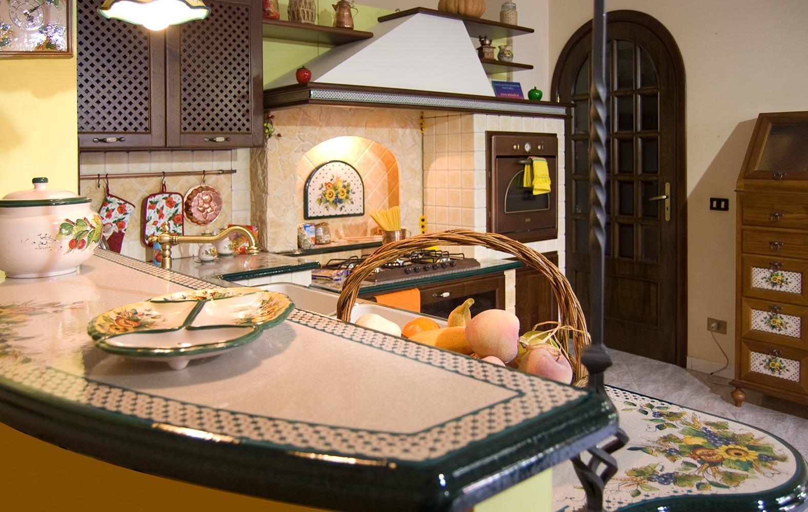 Cucine in muratura componibile modello brianza artesole - Modelli di cucina in muratura ...