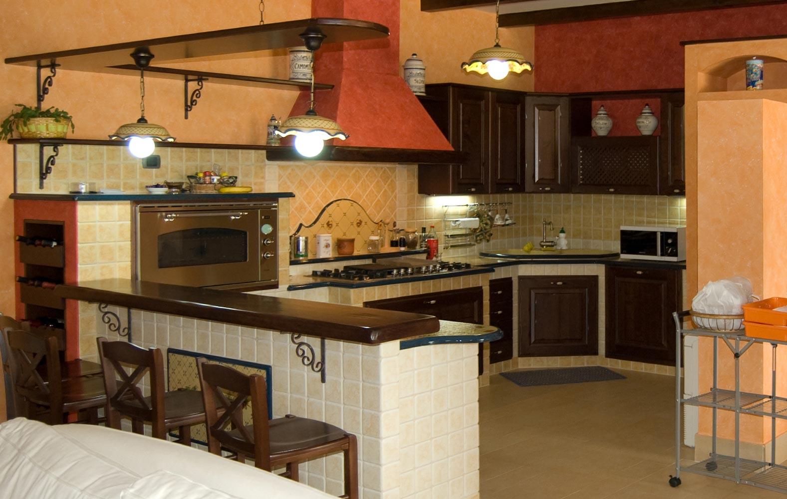 Cucine in arte povera in muratura smontabile | Modello ...