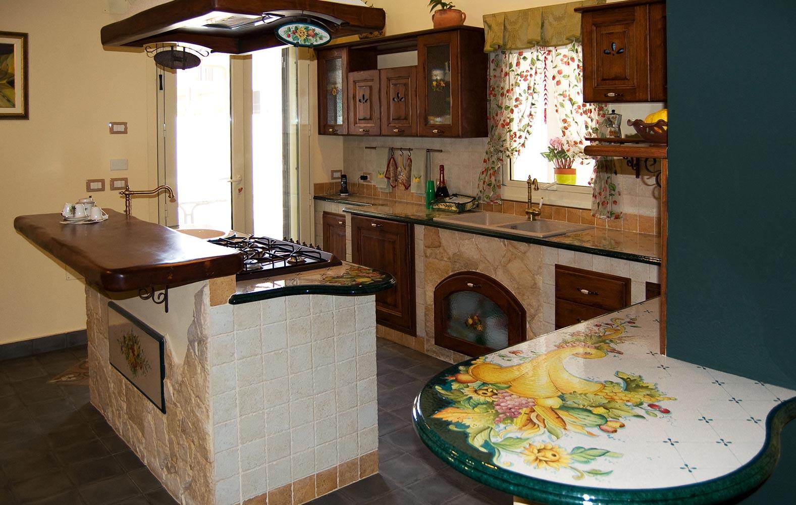 Cucine in finta muratura smontabile Modello Lombardia