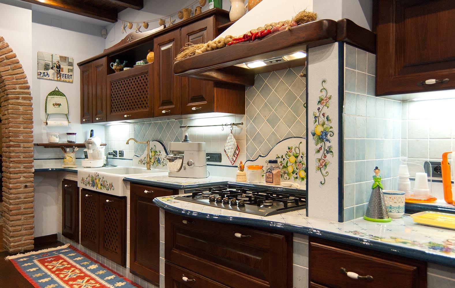 Cucine in finta muratura smontabile Modello Firenze