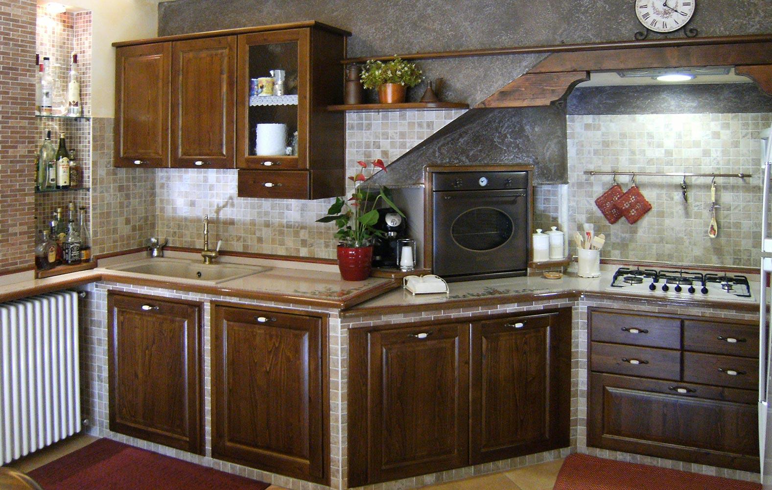 Cucine Rustiche: Cucine in muratura smontabile | Modello Antica Sicilia