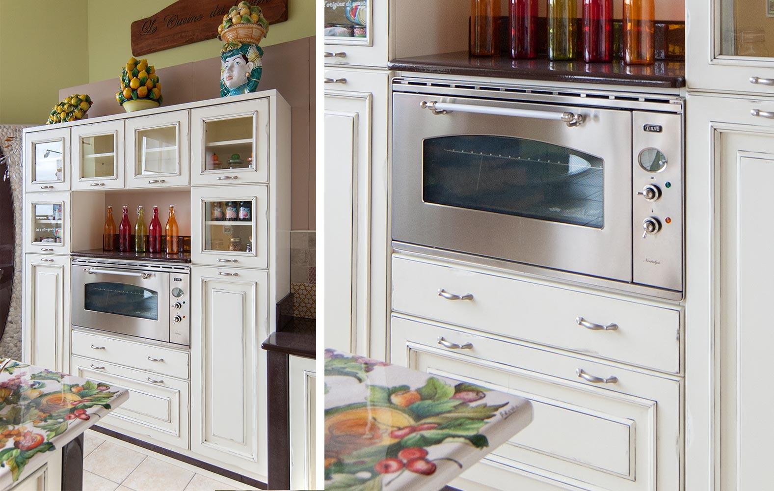 Credenza Con Forno : Cucine vintage: realizziamo la tua cucina su misura