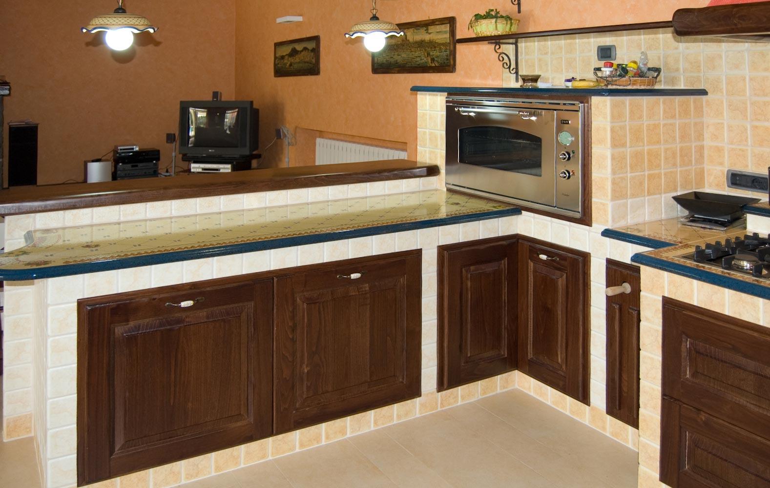 Forno Cucina In Muratura cucine in arte povera in muratura smontabile | modello