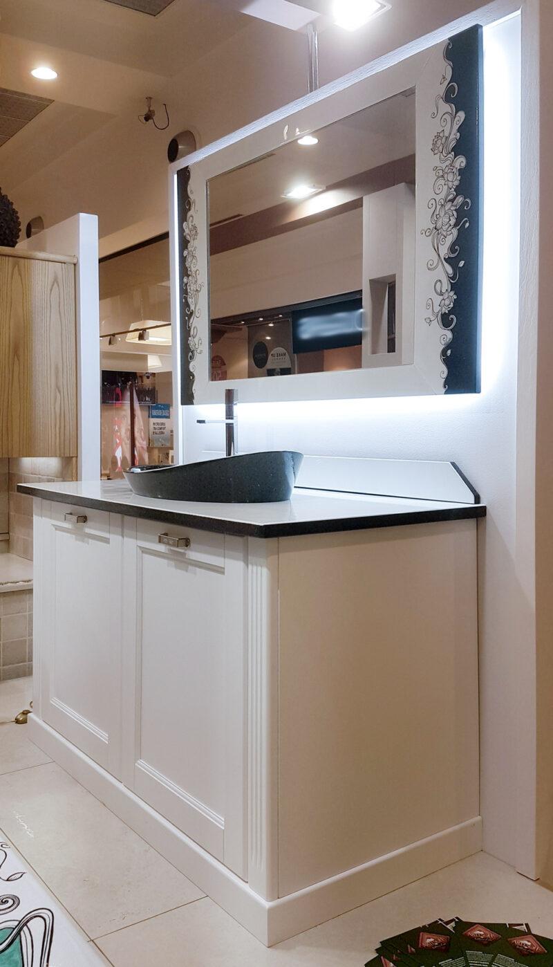 Mobile bagno moderno in pietra lavica decorata a mano