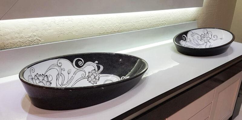 Doppio lavello arredo bagno
