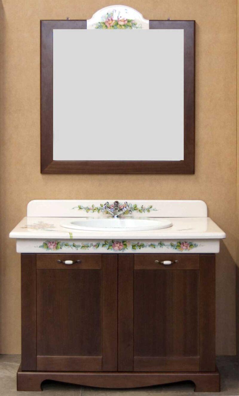 mobile bagno con mobile in legno massello
