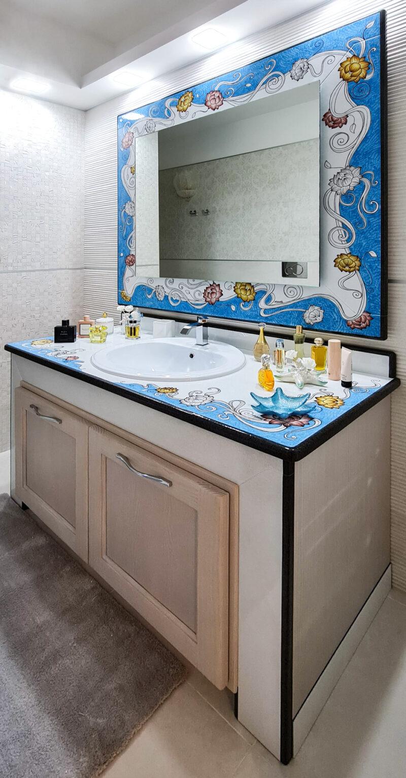 bagno luxury in pietra lavica moderno