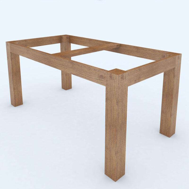 Base per tavolo in legno naturale