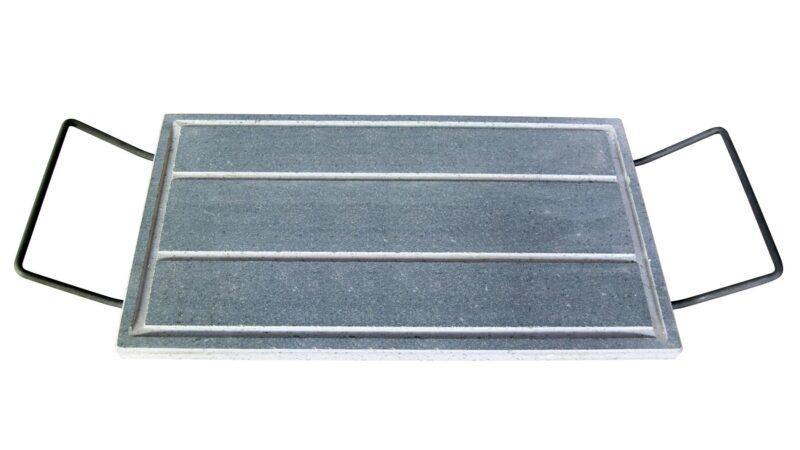 Bistecchiera in pietra lavica rettangolare grezza