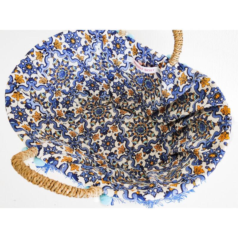 borsa artigianale decori siciliani