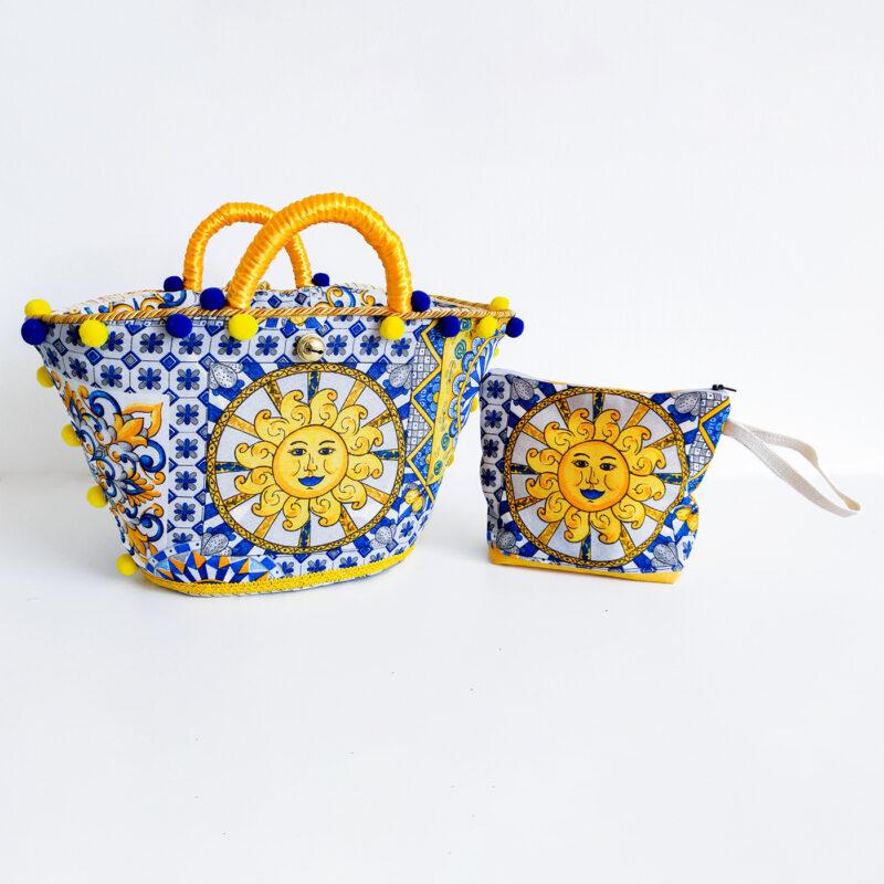 borsa con decoro siciliano sole
