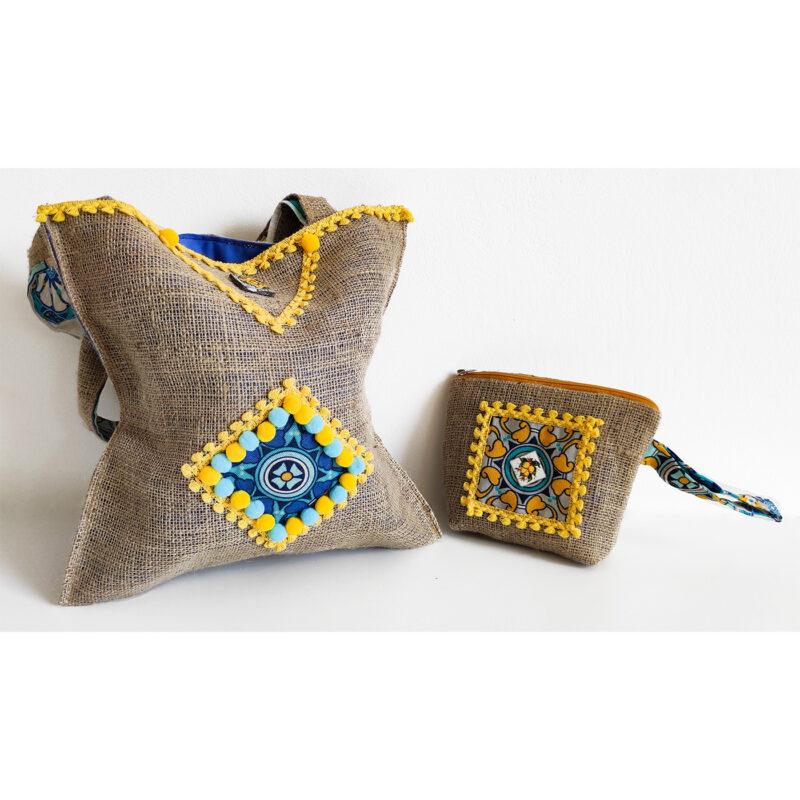 borsa con manici decorati