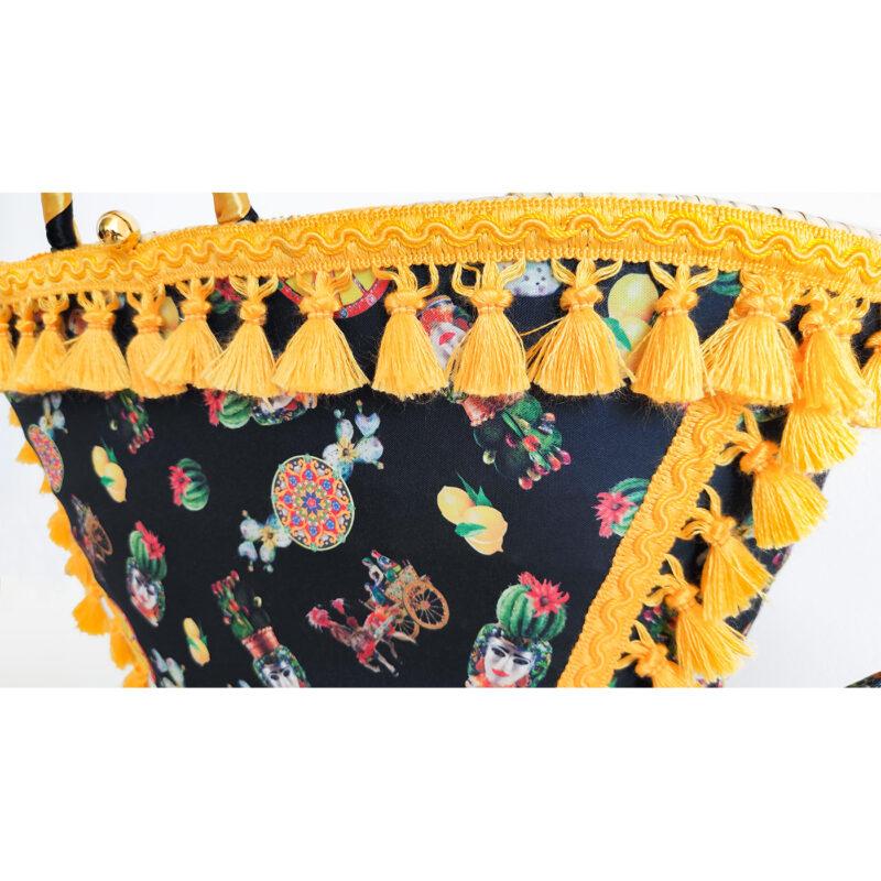 borsa gialla e nera