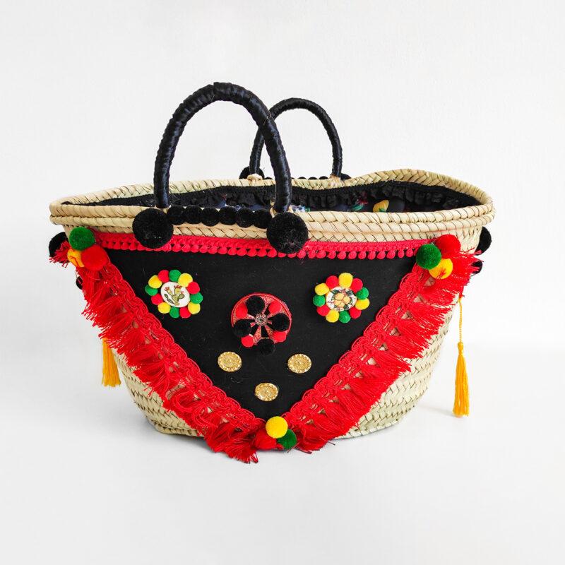 borsa rosso nera