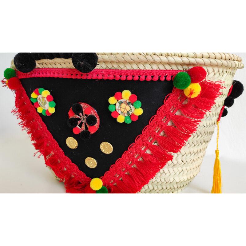 borsa rosso nera siciliana