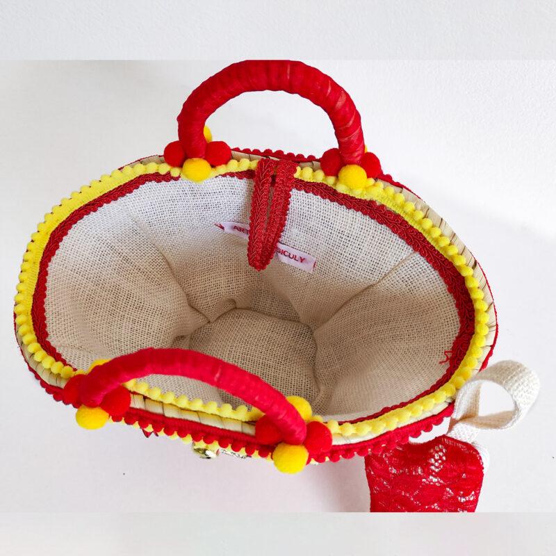 borsa siciliana rossa e gialla interno