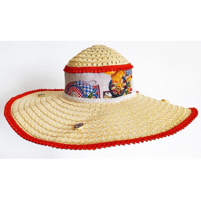 cappello siciliano decorato