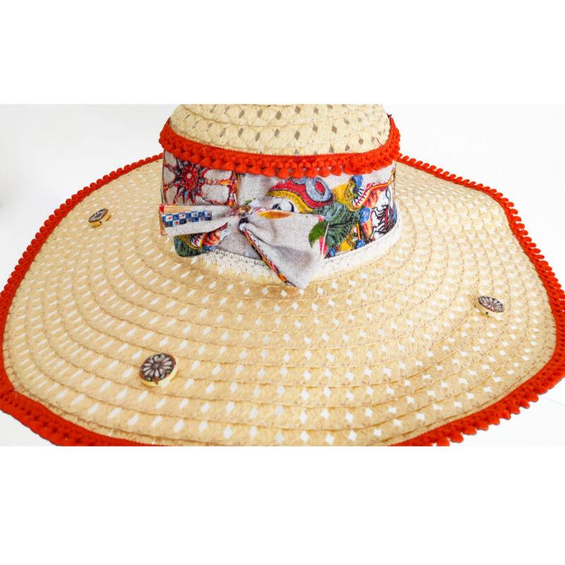 Cappello siciliano con decoro