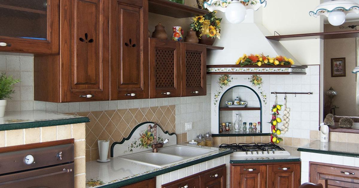 Cucine country in muratura smontabile modello marsala - Arte sole cucine ...