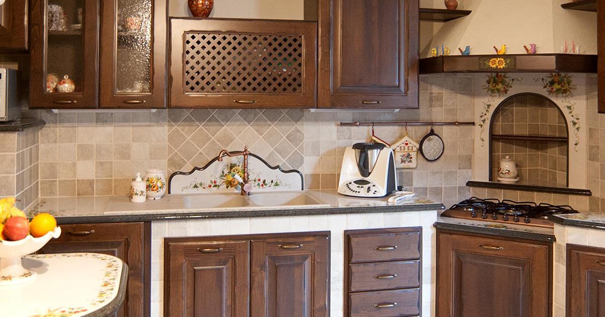 Cucine in muratura smontabile con top in pietra lavica modello novara - Arte sole cucine ...