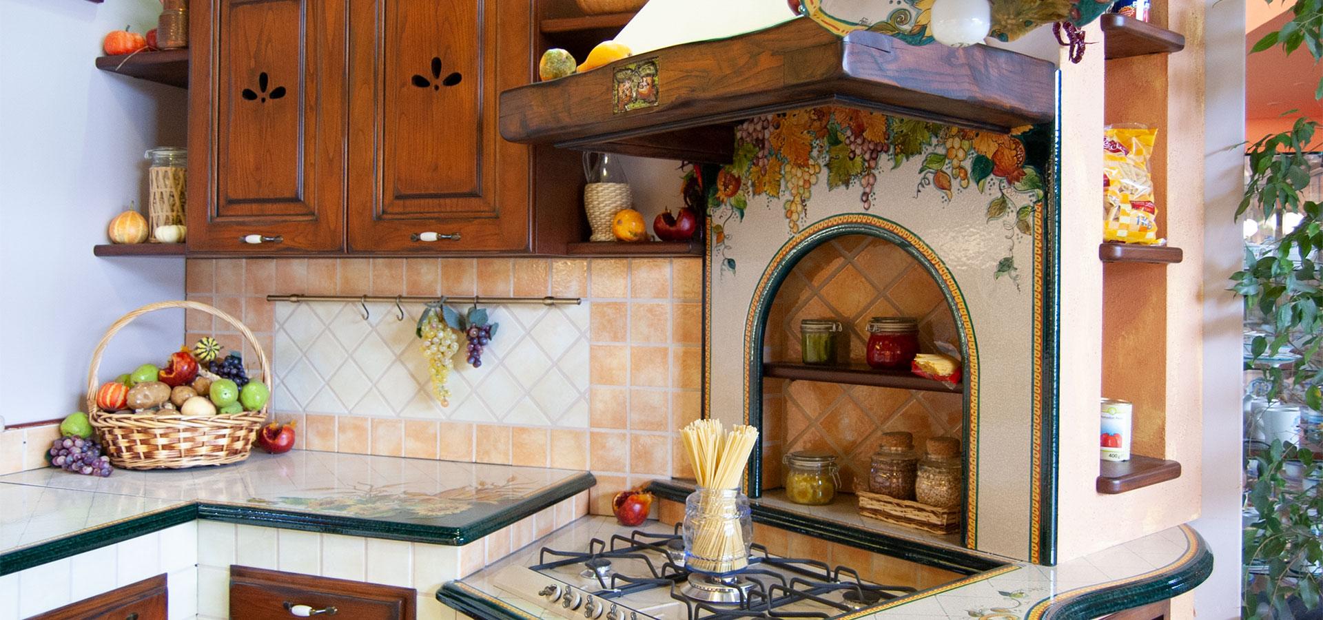 Cucine in finta muratura smontabile modello milano - Arte sole cucine ...