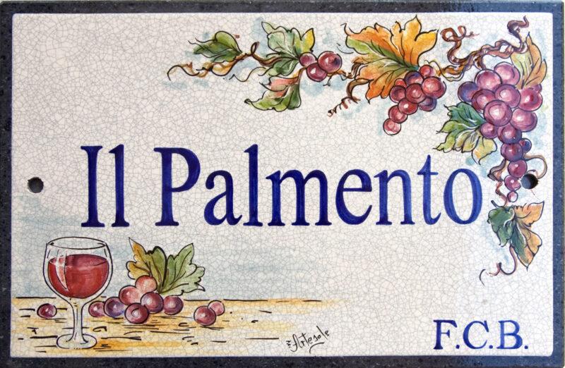 Il Palmento - decorato a mano su pietra lavica