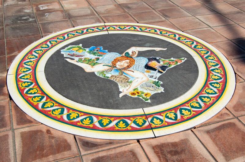 Inserto per pavimentazione in stile Siciliano