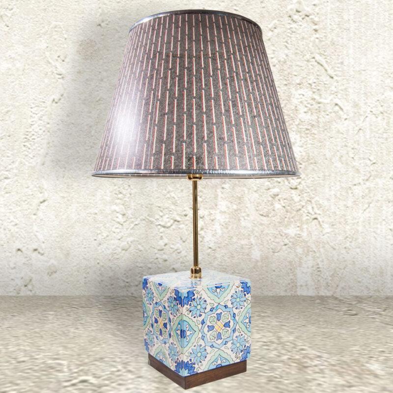 Lume Lampada da tavolo in ceramica artigianale decorata a mano