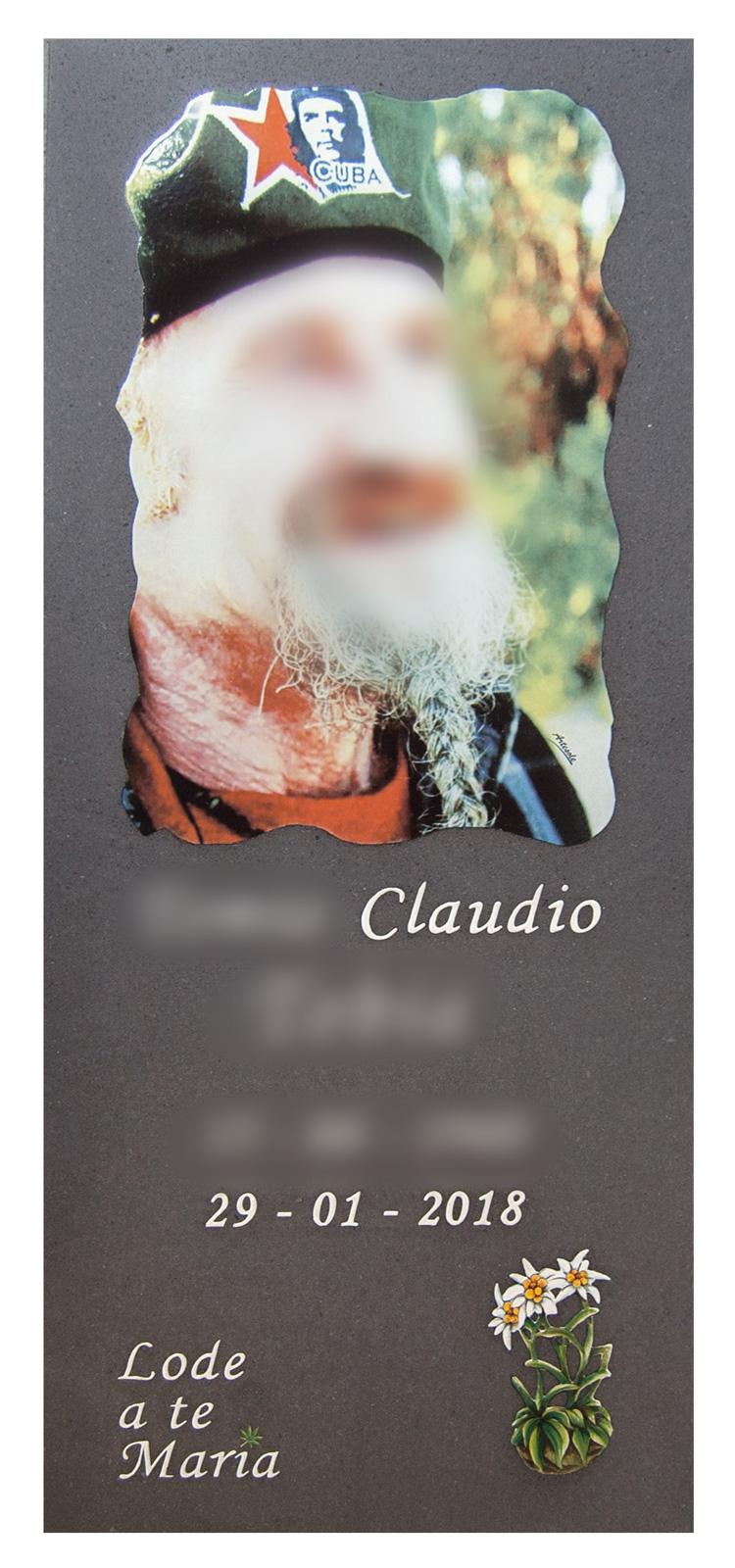 Lapide in Pietra Lavica con foto