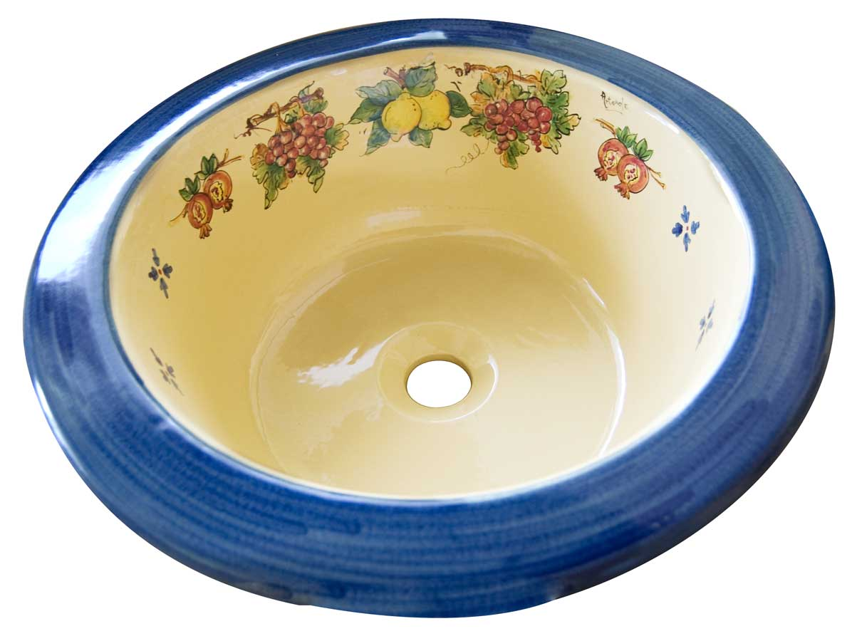 Pozzetto in ceramica decorato a mano - Made in Italy | Artesole