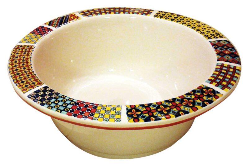 lavello decorato a mano in ceramica per cucine