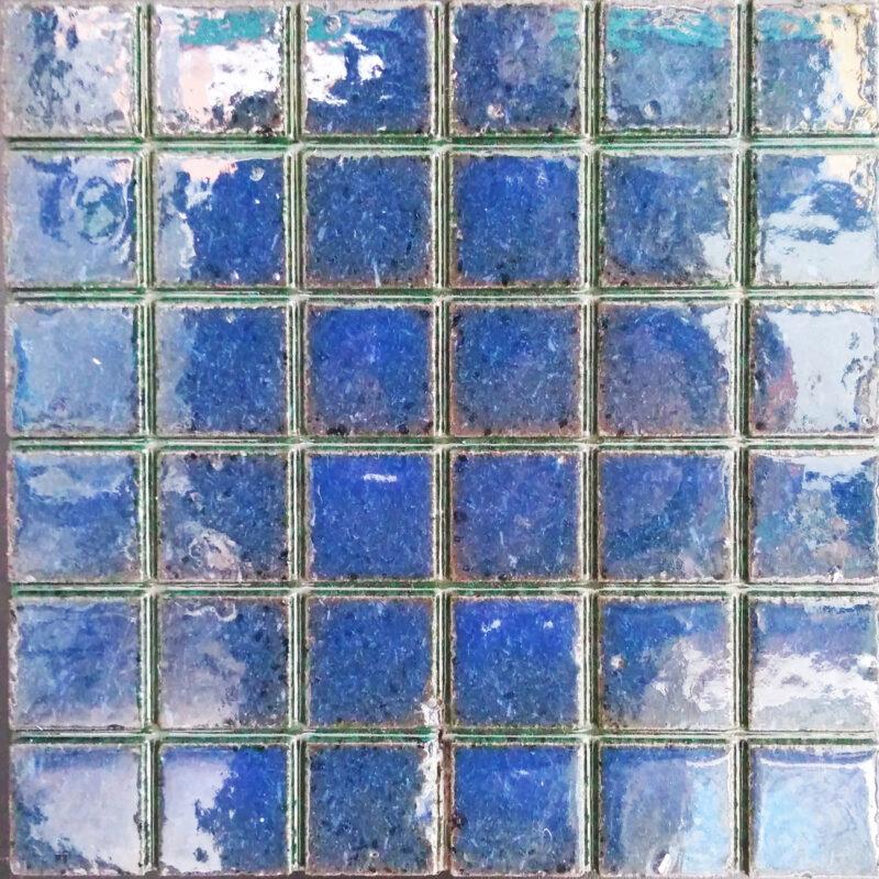 Mattonella in pietra lavica colore blu mare