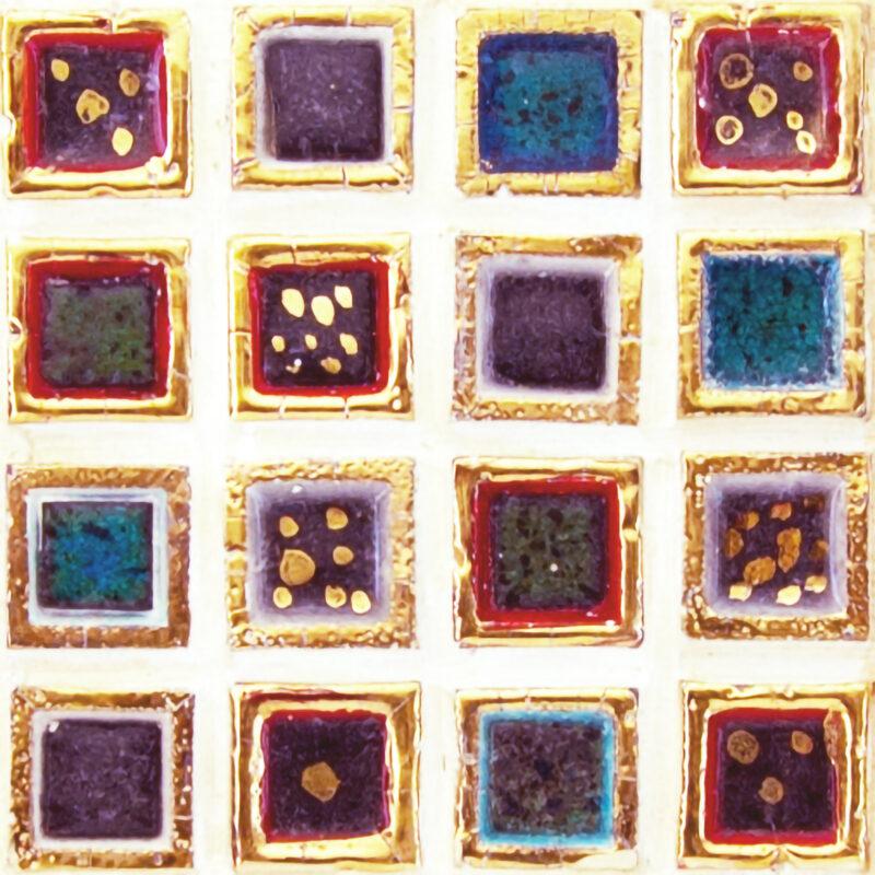 mattonelle con inserto in pietra lavica