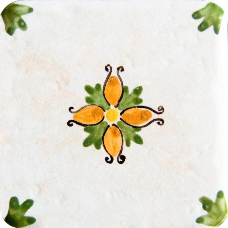 mattonella per rivestimento cucina dipinta a mano