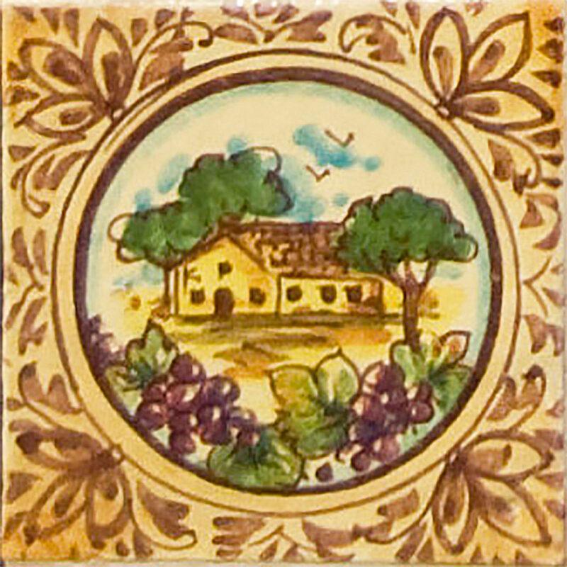 Mattonella in ceramica dipinta a mano ideale per ambienti cucina