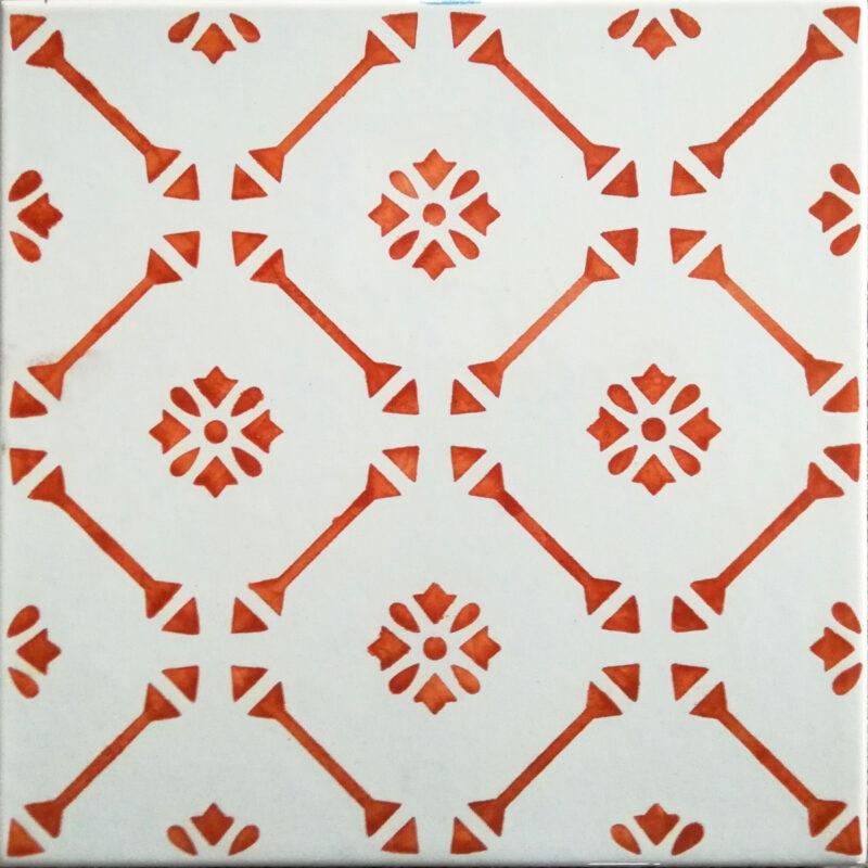 mattonella moderna decorata a mano