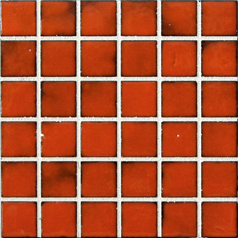 Mattonella Mosaico monocolore in pietra lavica con fuga