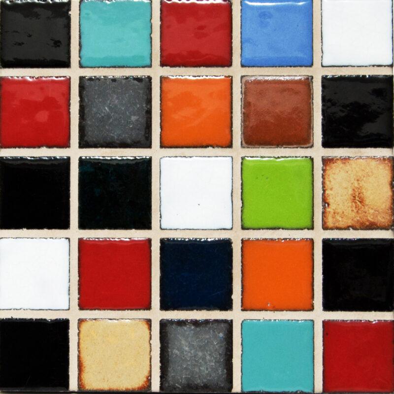 mattonella mosaico in pietra lavica monoblocco con fuga