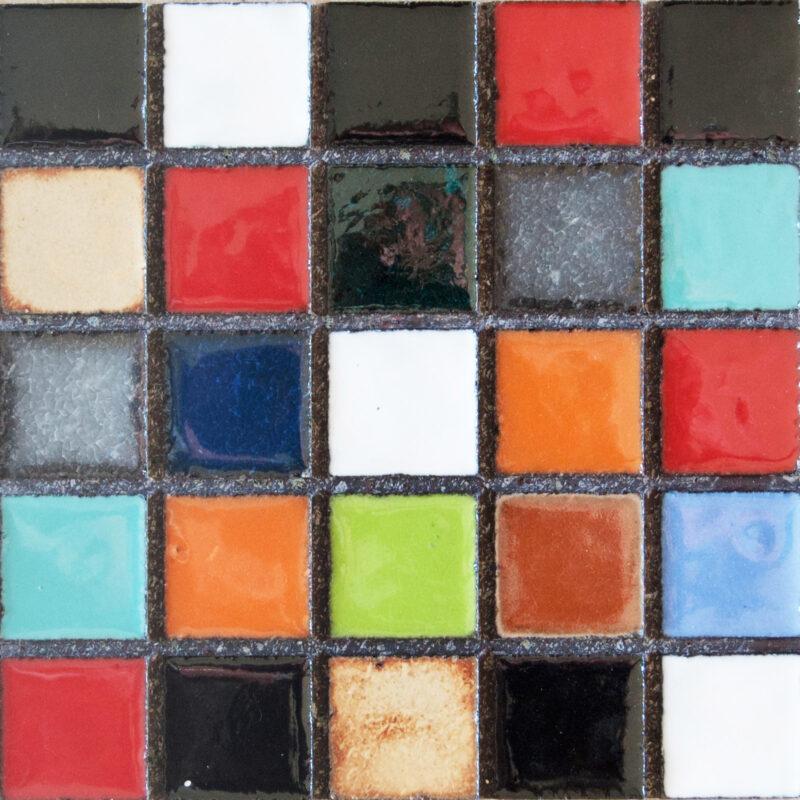 mattonella mosaico monoblocco in pietra lavica colori assortiti