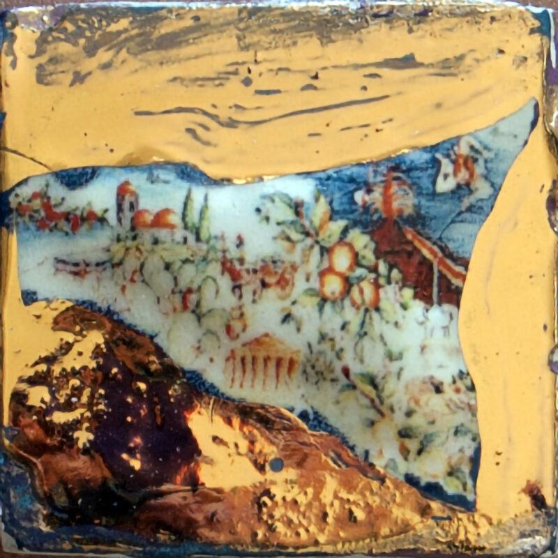 mattonella a rilievo per mosaico decoro sicilia