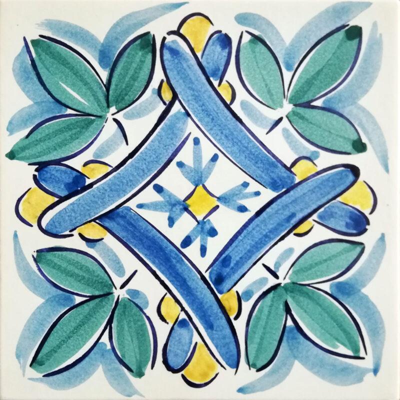 mattonella decorata a mano per rivestimenti interni ed esterni