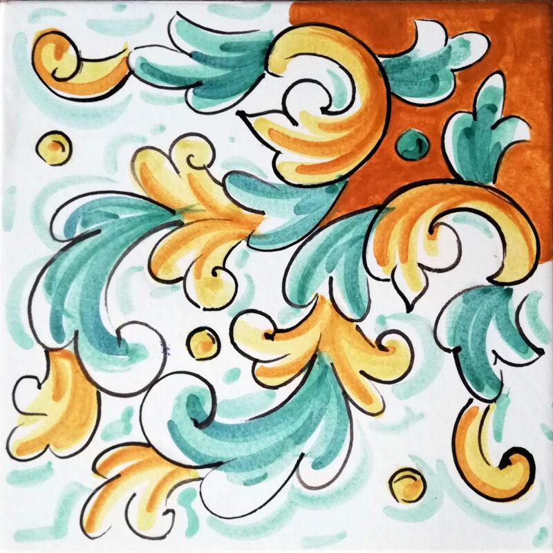 realizzazione di mattonella personalizzate decorate a mano