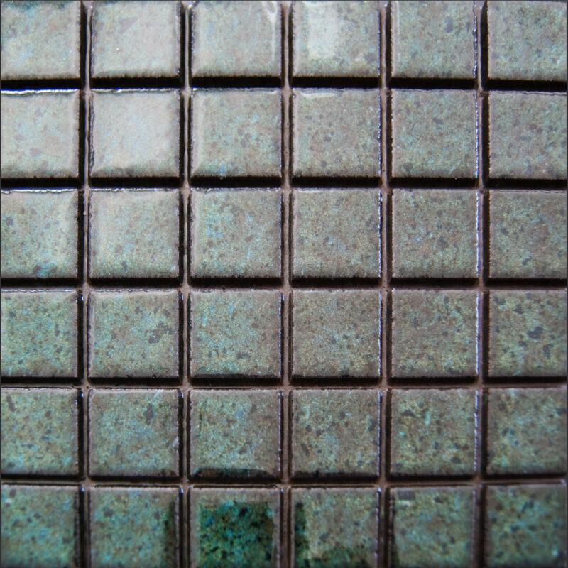 Mattonella 20x20 verde smeraldo unico blocco