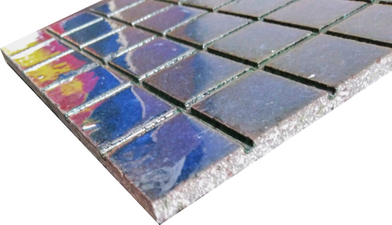 Mattonella in pietra lavica antiscivolo per rivestimenti interni esterni colore blu mare